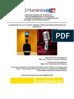 Estadisticas TV Radio Prensa Venezuela 2004 ININCO UCV