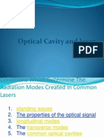 Optical Cavity and Laser Modes