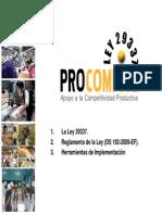 Presentacion Ley Procompite