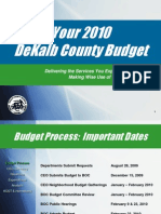 2010 DeKalb County Budget Presentation