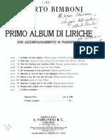 Bimboni Canzone Score pdf