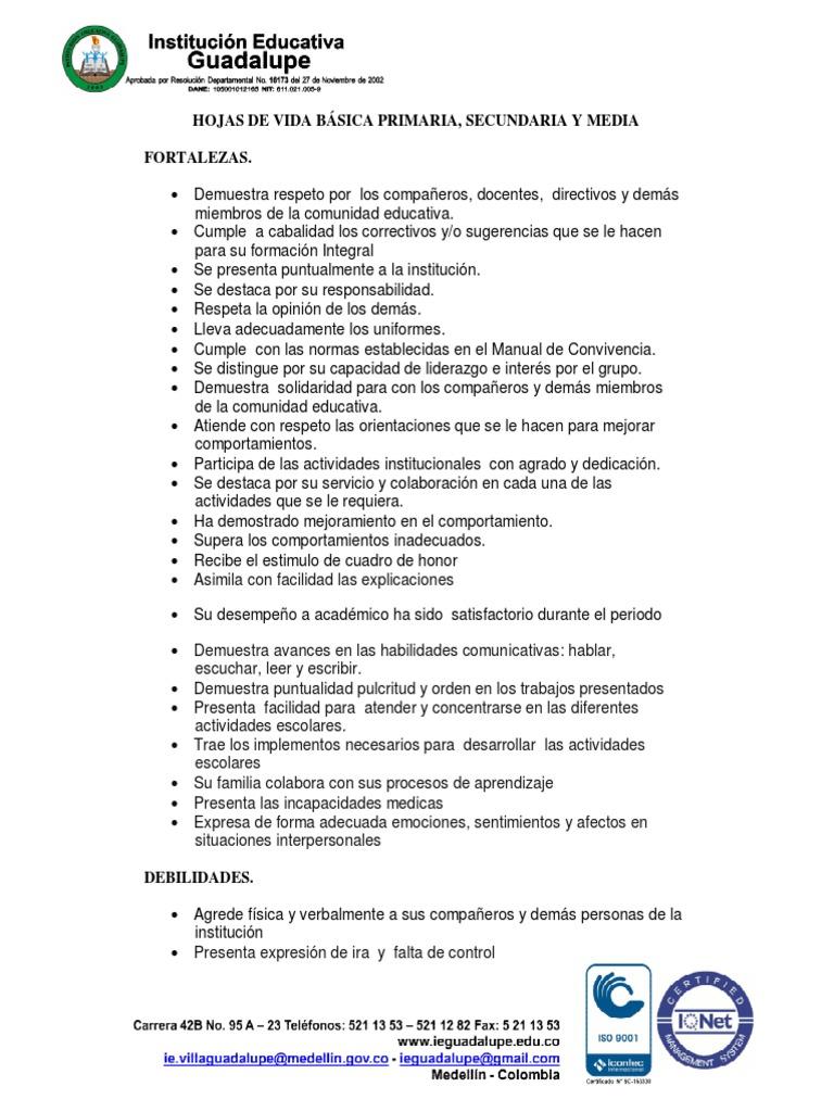Increíble Escribiendo Hojas De Vida Motivo - Ejemplo De Colección De ...