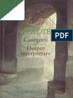 Aristotel - Categorii, Despre Interpretare (Humanitas)