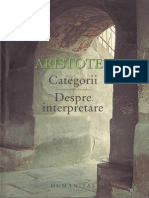 Aristotel - Categorii, Despre Interpretare (Humanitas)