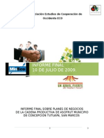 Informe Final Asofrut Asociacion Eco