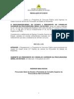 Resolucao n 01 - Concurso Procurador Do Estado - Definitivo