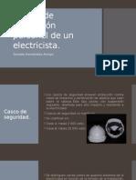 Equipo de proteccion personal de un electricista