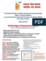 NaFFAA Region 8 Summit on April 18, 2015 - Save the Date!