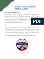 Peraturan Dan Undang - Undang Bola Jaring