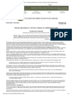 Domestic Operational Law_ the Posse Comitatus Act and Homeland Security