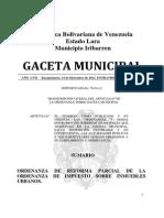 Ordenanza Al Impuesto Inmobiliario Municipal Iribarren