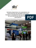 Gemalto proporciona a los operadores una nueva solución de mercadeo móvil para impulsar la monetización de las bases de datos de suscriptores que deciden sobre su participación