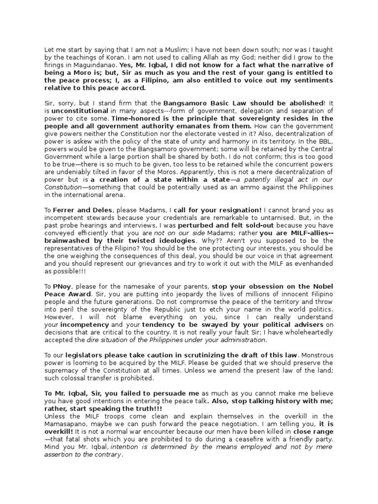 essay about mamasapano massacre