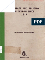 The State and Religion in Ceylon Since 1815