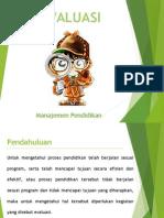 manajemen evaluasi