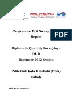 Report Exit Survey DIS 2012 DUB