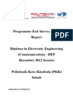 Report Exit Survey DIS 2012 DEP