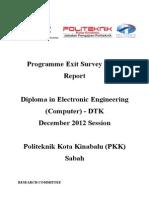 Report Exit Survey DIS 2012 Dtk