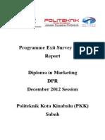 Report Exit Survey DPR DIS 2012
