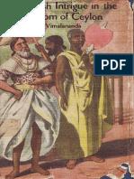 The British Intrigue in the Kingdom of Ceylon