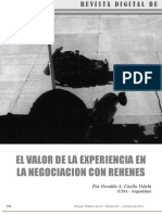 El Valor de La Experiencia en La Negociació Con Rehenes