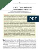 Educational Deficiencies in MSK Medicine 2014