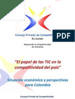 CONSEJO PRIVADO de COMPETIVIDAD. El Papel de Las TIC en La Competitividad Del País