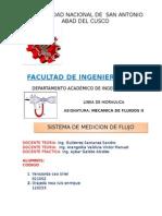 INFORME DE LABORATORIO DE MECANICA DEN FLUIDOS II