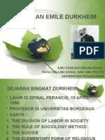 Pemikiran Emile Durkheim
