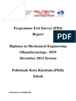 Programme Exit Survey (PES) DIS 2013 Session (DTP) V1