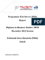 Programme Exit Survey (PES) DIS 2013 Session (DPM) V1