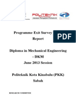 Programme Exit Survey (PES) JUNE 2013 Session (DKM)