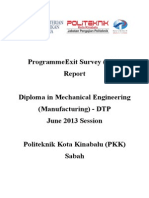 Programme Exit Survey (PES)-DTP JUNE 2013