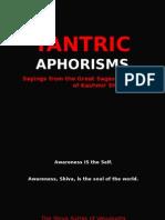 Tantric Aphorisms