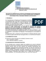 Edital Seleção 2-2014 PPCF unb