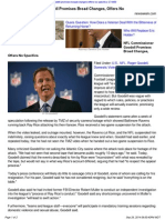 NFL Commissioner Goodell Promises Broad Changes Offers No Specif