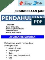 Penginderaan Jauh GD3104 Kuliah 1 ABH E