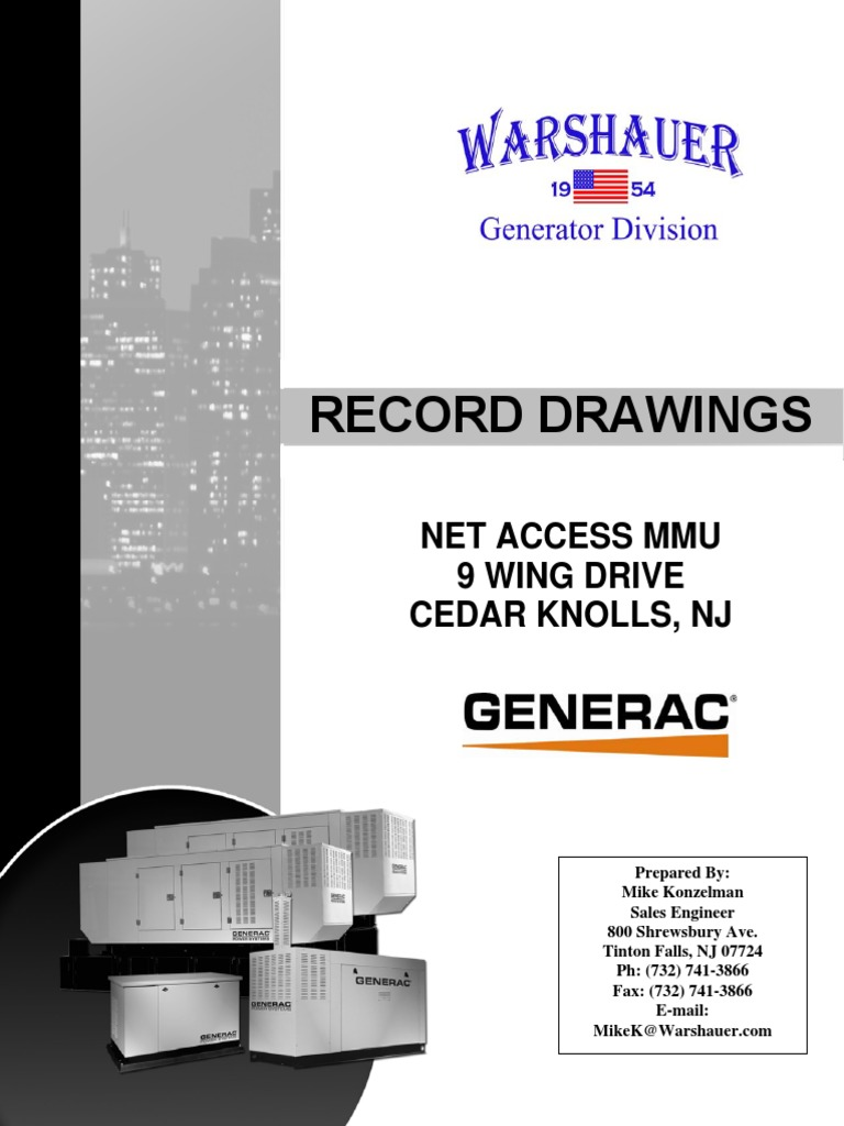 Record Drawings _ GENERAC.pdf | Electric Power System | Programmable Logic  Controller