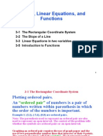 Graphs, Linear Equations, and Functions