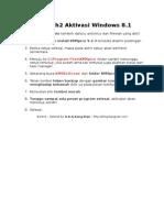 Langkah2 Aktivasi Windows 8.1