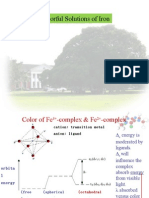 Colorful Solutions of Iron (II) and Iron (III) Complexes