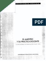 EL MAESTRO Y SU PRACTICA DOCENTE