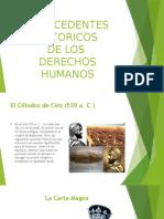 Antecedentes Históricos de los Derechos Humanos