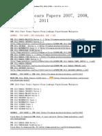 PMR Past Years Papers 2007, 2008, 2009, 2010, 2011 – Soalan PT3, SPM, STPM