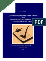 Prosedur Pendirian PTS Penambahan Prodi PTS