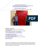 Professional Fellows alumnus Ion Guzun Outbound Project Report