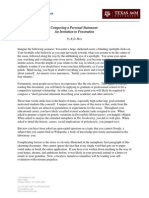 Personal Statement Invitation to Frustration