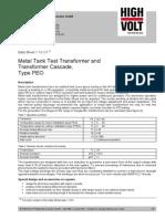 Metal Tank High Volt Trafo