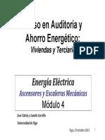 Curso Eficiencia Energética Escaleras Ascensores