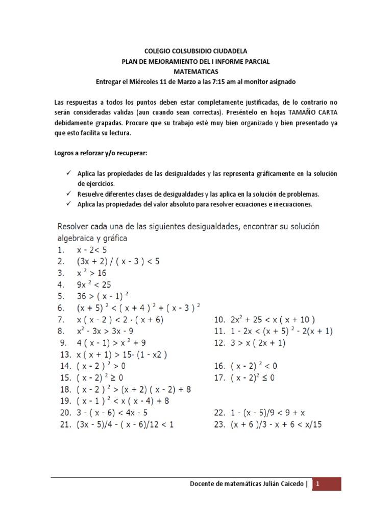 Famoso Hojas De Trabajo De Matemáticas Desigualdad Motivo - hojas ...